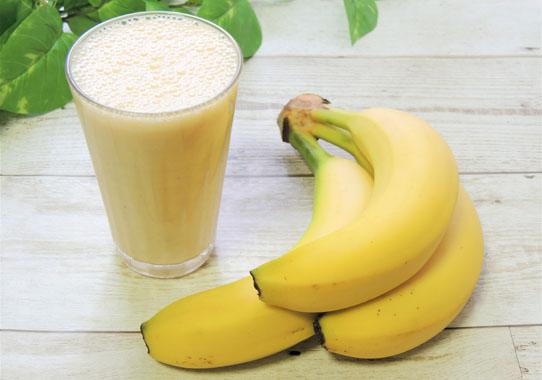 バナナミルクでトリプトファン!